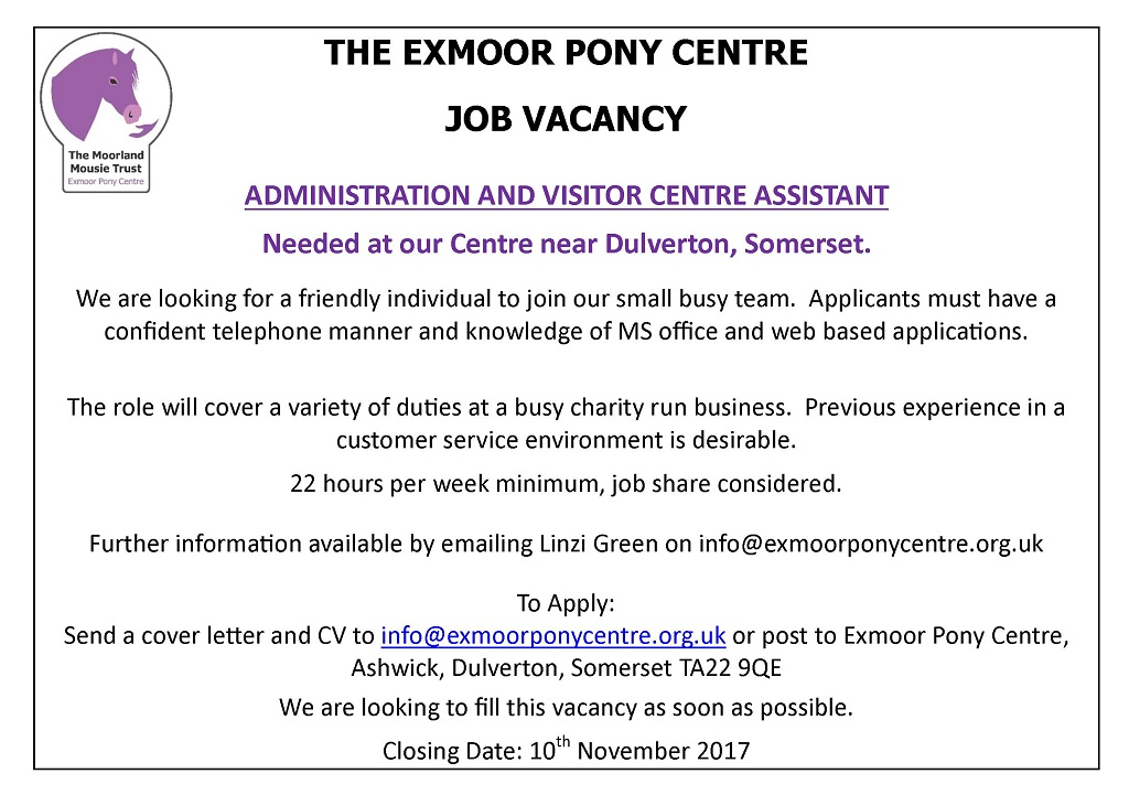 exmoor_pony_centre_job_vacancy